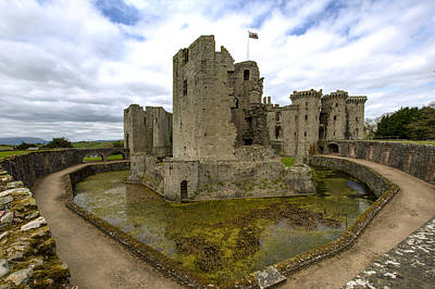Target Project 62 Abstract - Raglan Castle - 2 by Paul Cannon