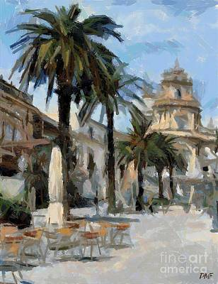 City Scenes Painting - Ragusa Piazza Duomo by Dragica  Micki Fortuna
