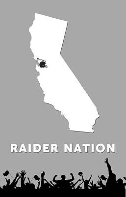 Raider Nation Map Art Print