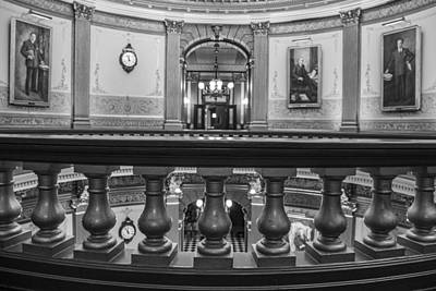 Photograph - Rail At Michigan State Capitol  by John McGraw