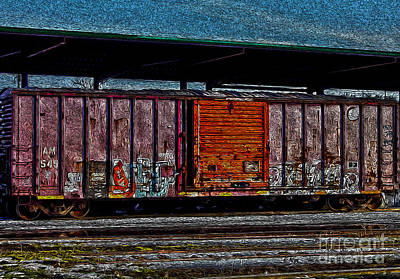 R. Mclellan Photograph - Rail Car Art by R McLellan