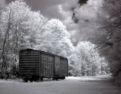 Illusory Photograph - Rail Car by Terry Reynoldson