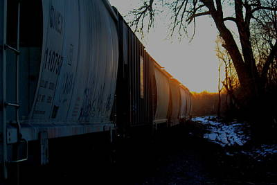 Photograph - Rail Cars by Trent Mallett