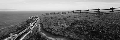 Point Reyes Photograph - Rail Fence At The Coast, Point Reyes by Panoramic Images
