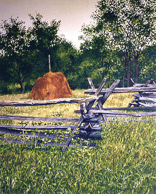 Painting - Rail Fence by Tom Wooldridge