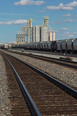 Freight Train Photograph - Rail Freight Loading Facility by Jim West/science Photo Library