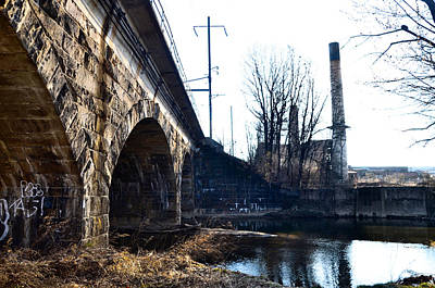 Rail Road Bridge Over The Brandywine Creek Downingtown Pa Art Print by Bill Cannon