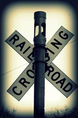 Rail Road Crossing Art Print by Karen Kersey