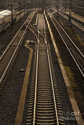Photograph - Rail Road Tracks Vertical by Inge Riis McDonald