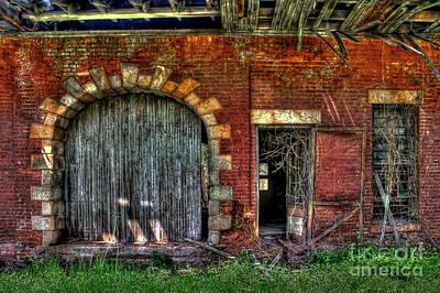 Ns Photograph - Rail Road Warehouse Doors by Reid Callaway