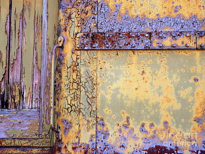 Photograph - Rail Rust - Abstract - Blues On The Rails by Janine Riley