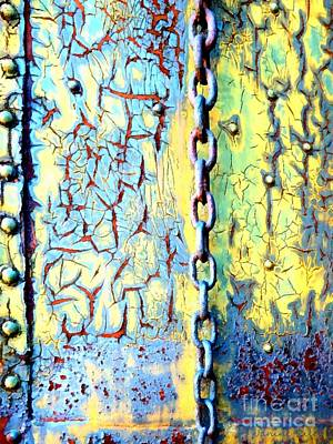 Rail Rust - Abstract - Studs And Chains  Art Print