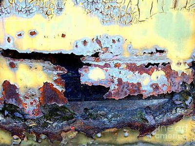Photograph - Rail Rust - Heavy Metal - Torn Apart by Janine Riley