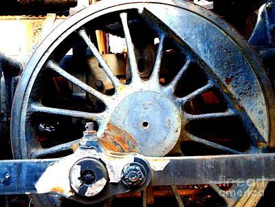 Rail Rust - Locomotive - Big Wheel Art Print