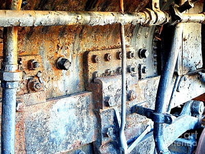 Rail Rust - Locomotive - Nuts And Bolts Art Print by Janine Riley
