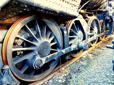 Photograph - Rail Rust - Locomotive - Wheels Keep On Turning by Janine Riley
