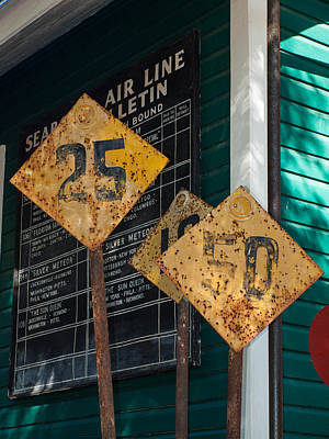 Photograph - Rail Signs by Randy Sylvia