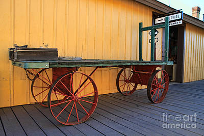 Photograph - Rail Station Cart by Edward R Wisell