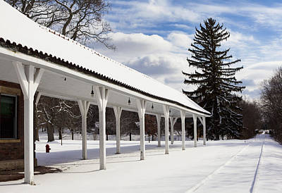 Winter Scenes Photograph - Rail Stop by Peter Chilelli