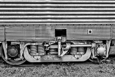 Photograph - Rail Support -bw by Christopher Holmes