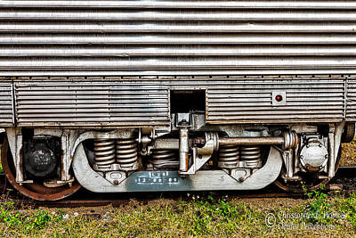 Photograph - Rail Support by Christopher Holmes
