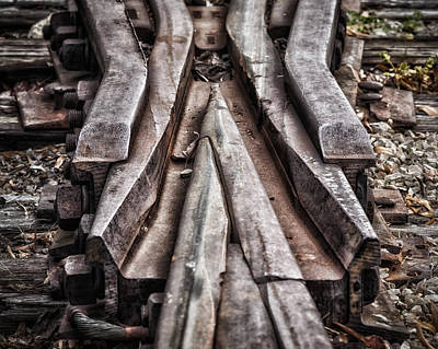 Photograph - Rail Switch by James Barber