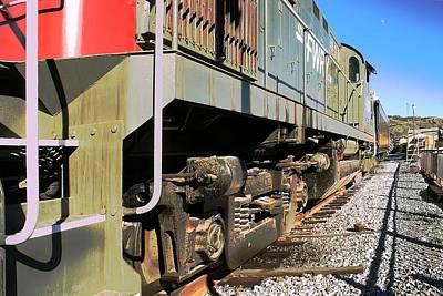 Print featuring the photograph Rail Truck by Michael Gordon