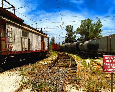 Photograph - Rail Yard Caboose by Timothy Bulone