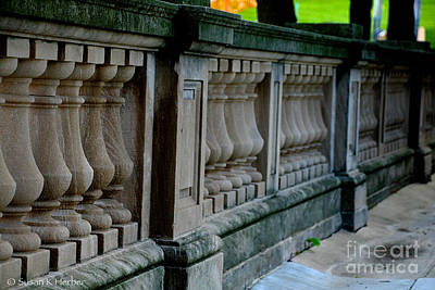 Photograph - Railing by Susan Herber