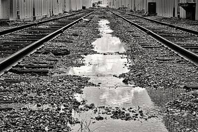Railroad 5715bw Art Print by Rudy Umans