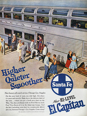 Photograph - Railroad Ad, 1957 by Granger