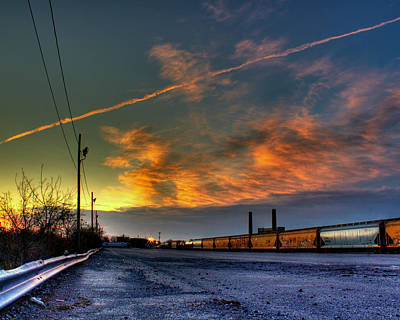 Railroad At Dawn Original