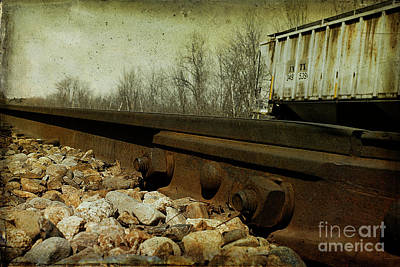 Train Tracks Photograph - Railroad Bolts by Cindi Ressler