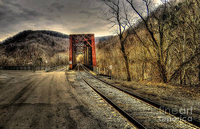 Railroad Bridge Art Print by Brenda Bostic
