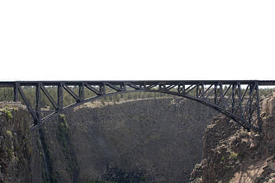 Photograph - Railroad Bridge-crooked River Gorge - 0001 by S and S Photo