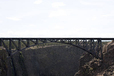 Photograph - Railroad Bridge-crooked River Gorge - 0002 by S and S Photo
