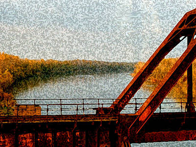 Mixed Media - Railroad Bridge by Dennis Buckman