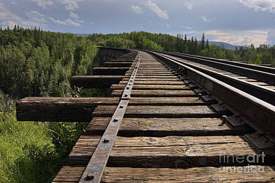 Photograph - Railroad Bridge by Inge Riis McDonald