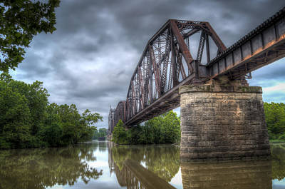 Railroad Bridge Art Print by James Barber