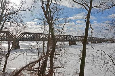 Photograph - Csx Railroad Bridge Over Connecticut River Springfield Mass by John Black