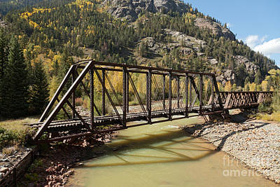 Photograph - Railroad Bridge Over The Animas River On The Durango And Silverton Narrow Gauge Rr by Fred Stearns