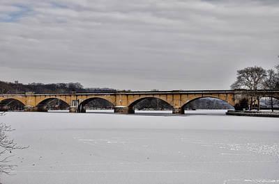 Philadelphia Phillies Digital Art - Railroad Bridge Over The Schuylkill River by Bill Cannon