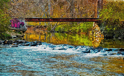 Digital Art - Railroad Bridge by Rick Mosher