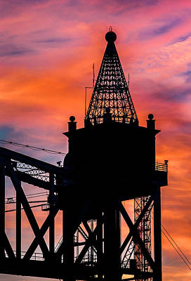 Dean Martin Photograph - Railroad Bridge Sunset by Dean Martin