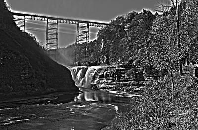 Photograph - Railroad Bridge  by William Norton