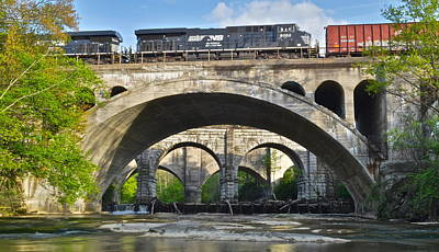 Railroad Bridges Art Print