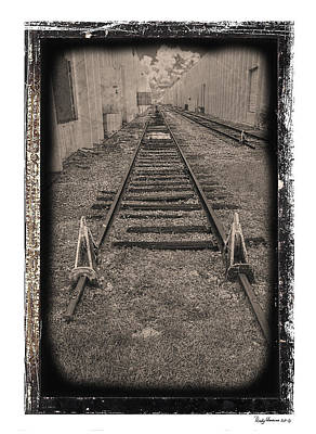 Photograph - Railroad Bw by Rudy Umans