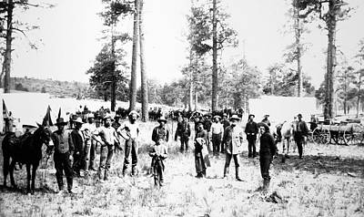 1880s Photograph - Railroad Camp, 1880s by Granger