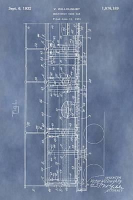 Railway Mixed Media - Railroad Car Patent by Dan Sproul