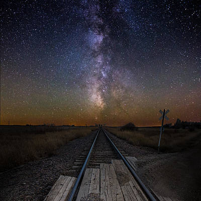 Photograph - Railroad Crossing by Aaron J Groen